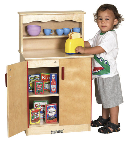 ECR4Kids ELR-0432 Birch Play Kitchen - Cupboard - Peazz Toys