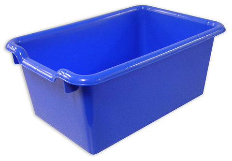 ECR4Kids ELR-0482-BL Scoop Front Storage Bins - Blue - Set of 10 - Peazz Toys
