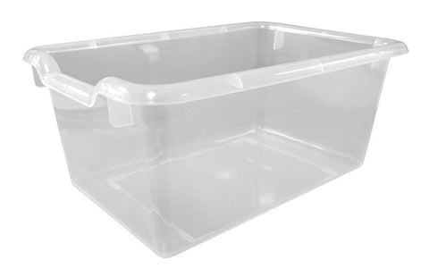 ECR4Kids ELR-0482-CL Scoop Front Storage Bins - Clear - Set of 10 - Peazz Toys