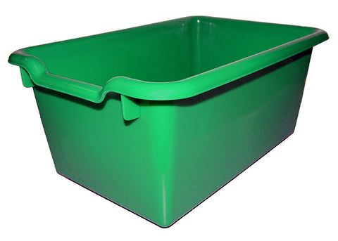 ECR4Kids ELR-0482-GN Scoop Front Storage Bins - Green - Set of 10 - Peazz Toys