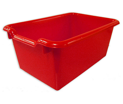 ECR4Kids ELR-0482-RD Scoop Front Storage Bins - Red - Set of 10 - Peazz Toys