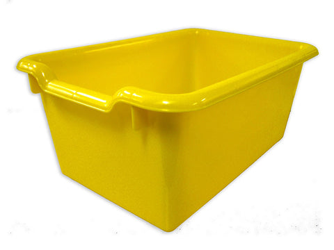 ECR4Kids ELR-0482-YE Scoop Front Storage Bins - Yellow - Set of 10 - Peazz Toys