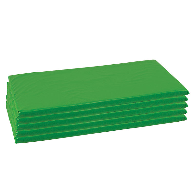 ECR4Kids ELR-0573-GN ECR4Kids 5 Pack Rainbow Rest Mats - Green