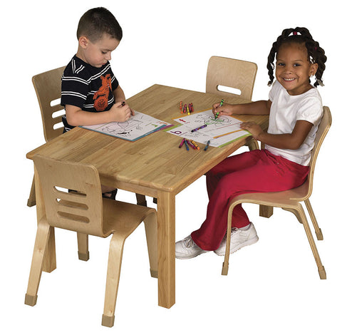 "ECR4Kids ELR-063 24""x36"" Rectangular Hardwood Table w/18"" Legs - Peazz Toys"