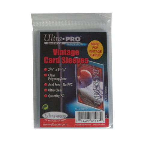 Ultra Pro Vintage Card Sleeve (50 Sleeves) - Peazz Toys