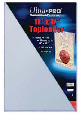 Ultra Pro 11X17 Toploaders (10 Pack) - Peazz Toys