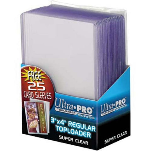 Ultra Pro3X4 Topload Card Holder W/Soft Sleeve (1000) - Peazz Toys