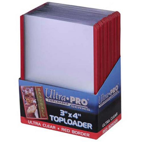 Ultra Pro3X4 Topload Red Border Card Holder (25) - Peazz Toys