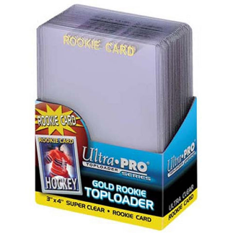 Ultra Pro3X4 Topload Rookie Gold Border Card Holder (25) - Peazz Toys