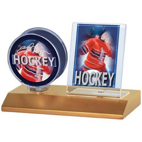 Ultra Pro Wood Base Puck And Card Holder - Peazz Toys