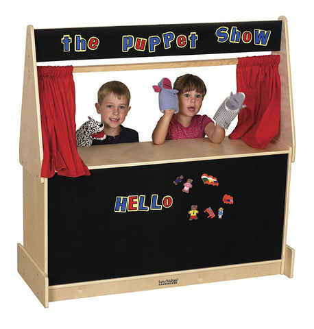 ECR4Kids ELR-0693 Puppet Theater - Flannel - Peazz Toys