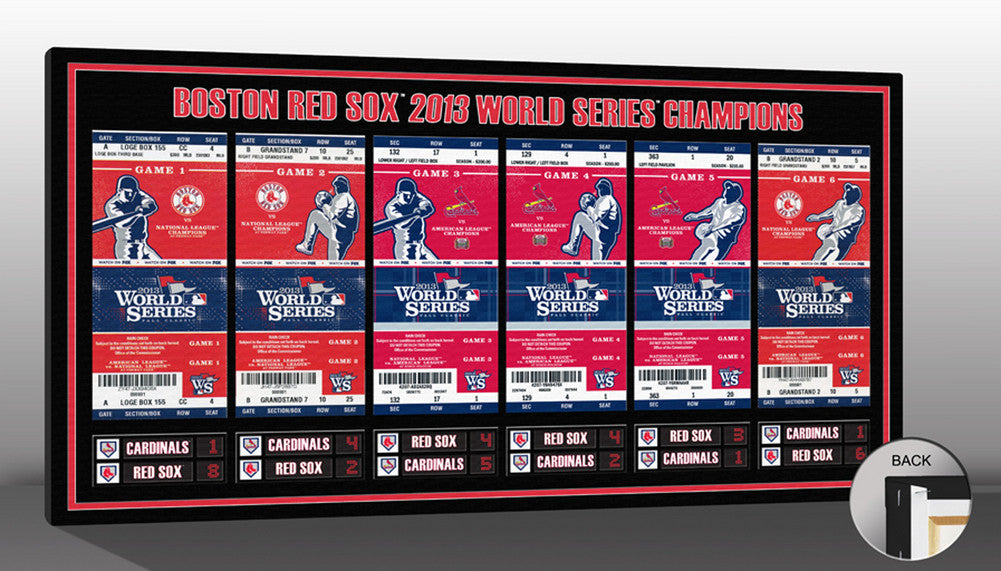 2013 World Series Champs Tickets to History Canvas Print Boston Red Sox