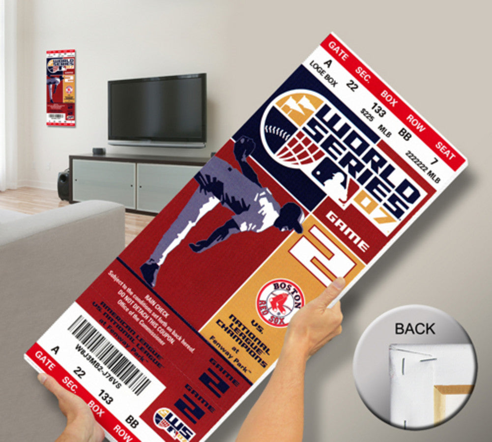2007 World Series Canvas Mega Ticket Red Sox