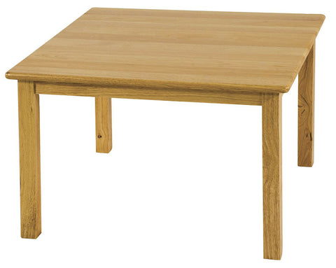 "ECR4Kids ELR-070 24"" Square Hardwood Table with 22"" Legs - Peazz Toys"