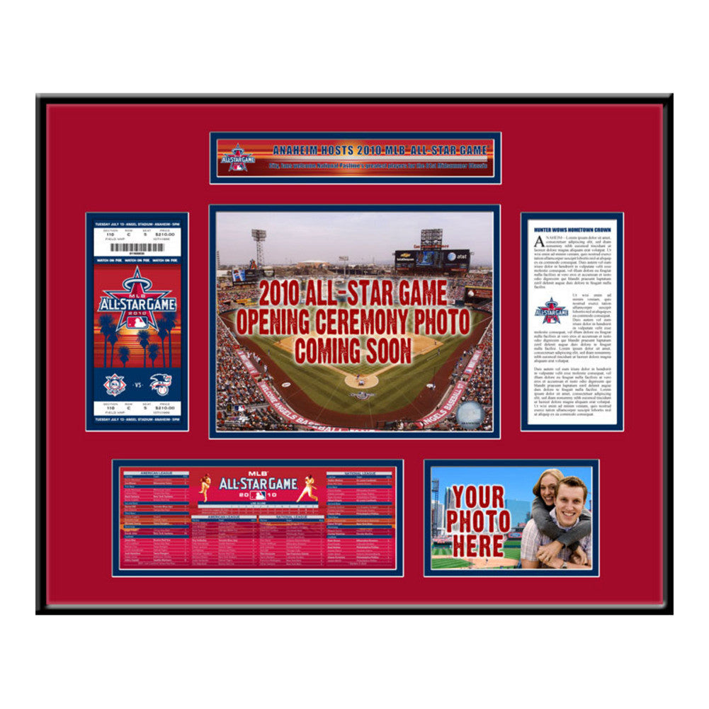 2010 All Star Game Ticket Frame