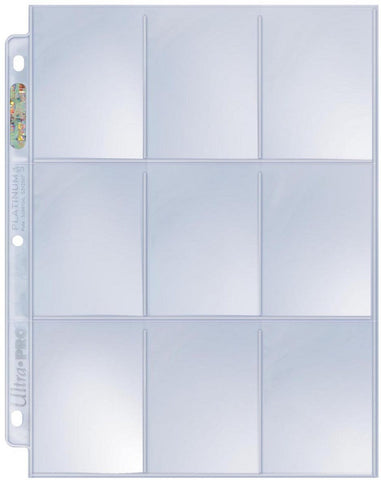 Ultra Pro 9-Pocket Trading Card Pages - Platinum Series (100Ct) - Peazz Toys