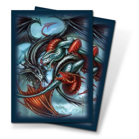 Ultra Pro Trinity Dragon Multi-Color Small-Size Deck Protectors (60 Sleeves) - Peazz Toys