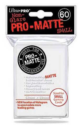 Ultra Pro Pro-Matte White Deck Protector- Small Size (60 Sleeves) - Peazz Toys