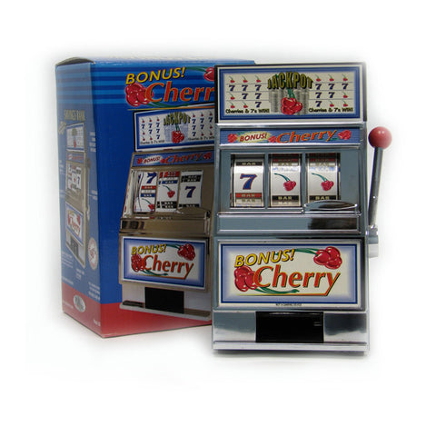 Trademark Games TMC-10-41220 Cherry Bonus Slot Machine Bank W/ Spinning Reels - Peazz Toys
