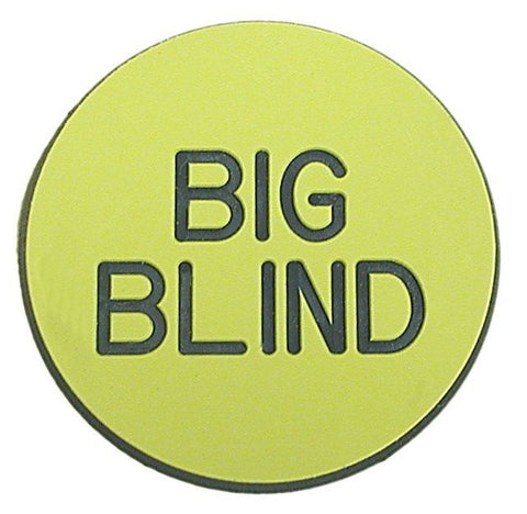 Trademark Poker TMC-10-Bgblnd Big Blind Button For Poker Game - Peazz Toys