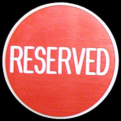 Trademark Poker TMC-10-Resr Reserved Button - Great For Gaming Tables