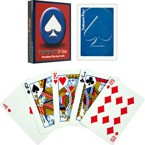 Trademark Poker TMC-10-Tmdeckblu Trademark Pokert Premium Playing Cards - Blue - Peazz Toys