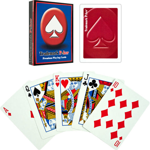 Trademark Poker TMC-10-Tmdeckred Trademark Pokert Premium Playing Cards - Red - Peazz Toys