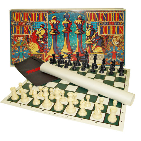 1524129 Ministers Chess Set - Standard Chess With A Twist!! - Peazz Toys