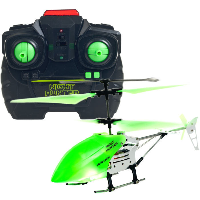 80-5549-Nr Night Hunter Xtreme Glow In The Dark Rc Helicopter