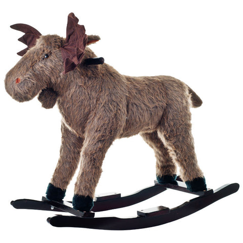 Happy Trails 80-Bc6002 Happy Trails Plush Rocking Max Moose - Peazz Toys