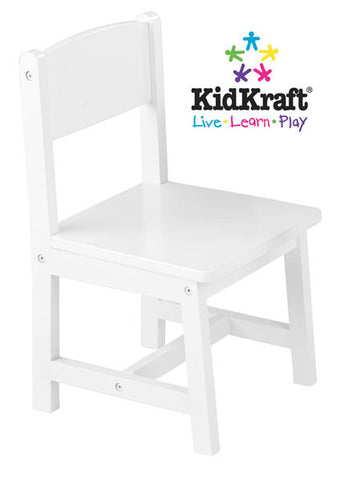 KidKraft Aspen Single Chair - White 16117 - Peazz Toys