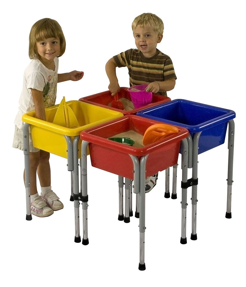 ECR4Kids ELR-0799 4 Station Square Sand & Water Table with Lids