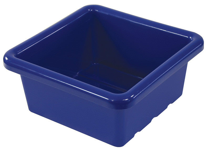 ECR4Kids ELR-0800-BL Square Tray without Lid - Blue - Set of 20