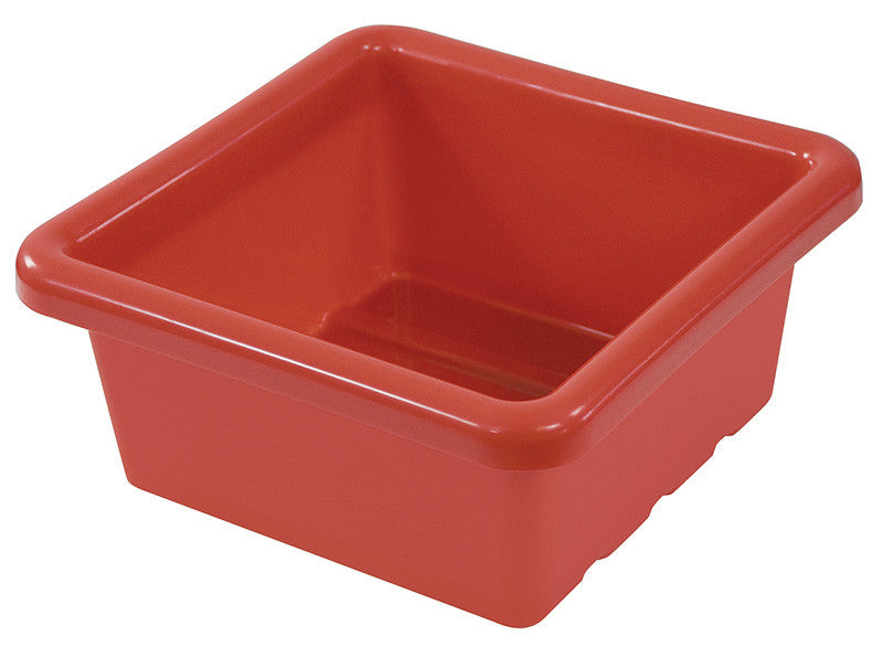 ECR4Kids ELR-0800-RD Square Tray without Lid - Red - Set of 20