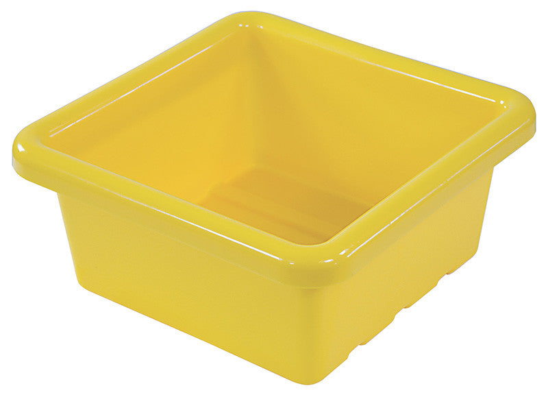 ECR4Kids ELR-0800-YE Square Tray without Lid - Yellow - Set of 20