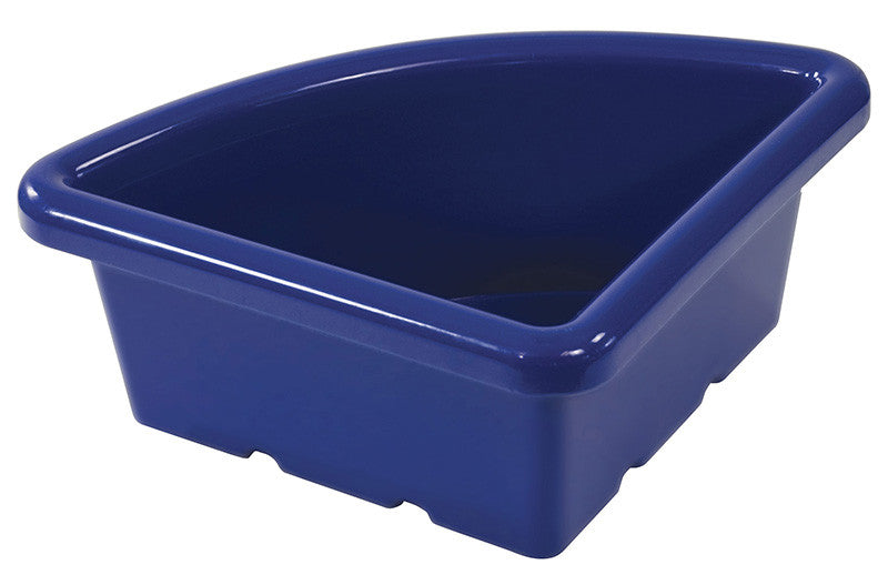 ECR4Kids ELR-0802-BL Quarter Circle Tray without Lid - Blue - Set of 20