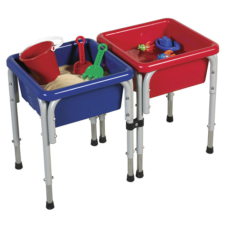 ECR4Kids ELR-12401 2 Station Square Sand & Water Table with Lids