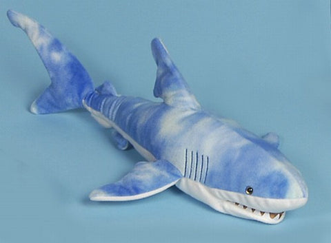"24"" Shark Puppet Blue - Peazz Toys"
