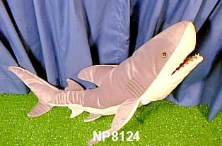 "24"" Shark Puppet Great White - Peazz Toys"