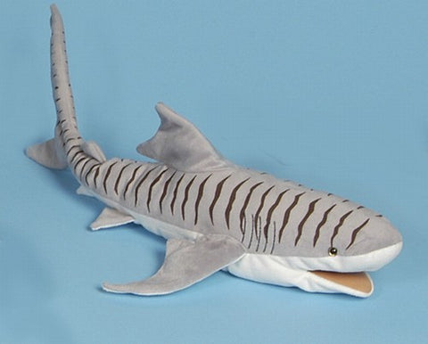 "24"" Shark Puppet Tiger - Peazz Toys"