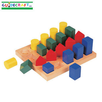Guidecraft G2004 Colored Geo Forms - Peazz Toys