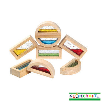 Guidecraft G3013 Rainbow Blocks-Water - Peazz Toys