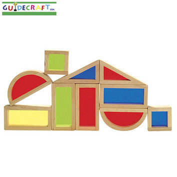 Guidecraft G3015 Rainbow Blocks Set - 10 Pcs - Peazz Toys