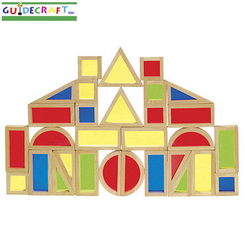 Guidecraft G3016 Rainbow Blocks Set - 30 Pcs - Peazz Toys