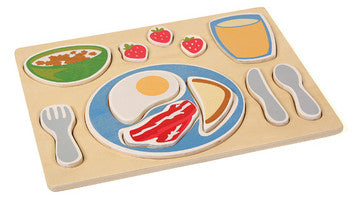Guidecraft G460 Sorting Food Tray - Breakfast - Peazz Toys