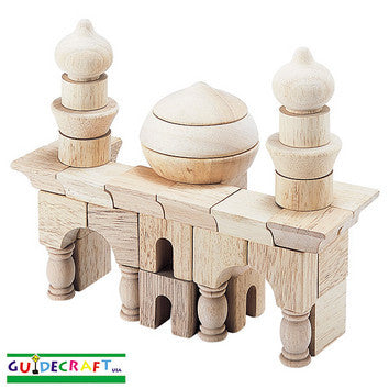 Guidecraft G6101 Table Top Blocks-Arabian Block Set - Peazz Toys