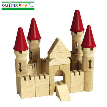 Guidecraft G6103 Table Top Blocks-Castle Blocks - Peazz Toys