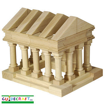 Guidecraft G6104 Table Top Blocks-Greek Blocks - Peazz Toys