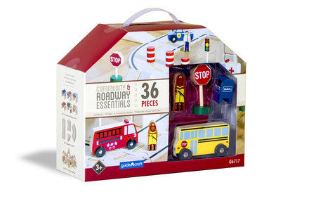 Guidecraft G6717 Community & Roadway Essentials - Peazz Toys