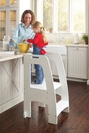 Guidecraft G97328 Step Up Kitchen Helper White - Peazz Toys